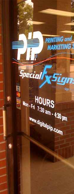Special FX Signs Innovative DeSign Solutions A Division Of PIP - Custom vinyl sign graphics   removal options